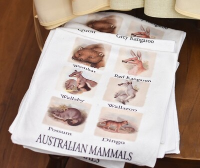 Tea Towel - Australian Mammals - John Gould