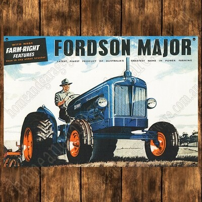 Aluminium Sign - 200mm X 285mm - FORDSON MAJOR