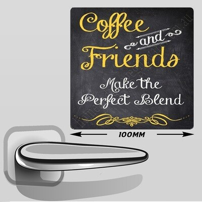 LARGE FRIDGE MAGNET 100MM - COFFEE & FRIENDS..