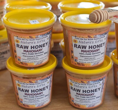 RAW HONEY - MAHOGANY - 500g