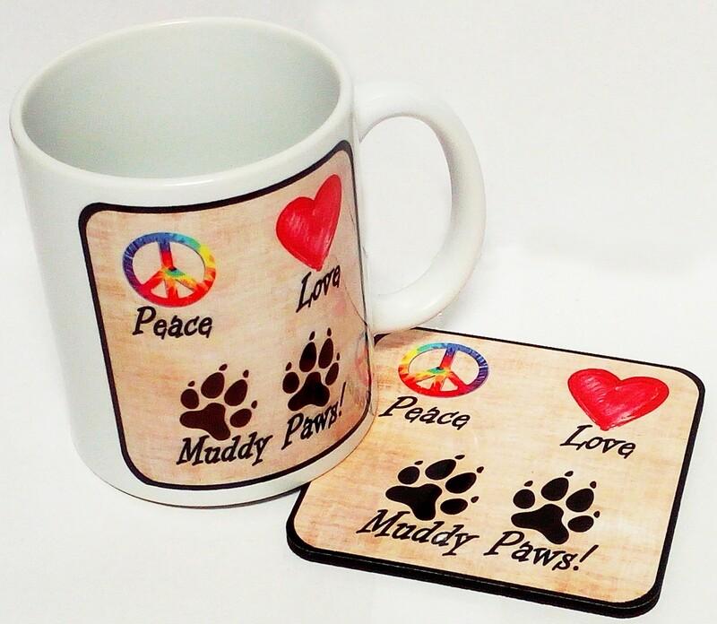 Coffee Mug - Peace, Love, Muddy Paws
