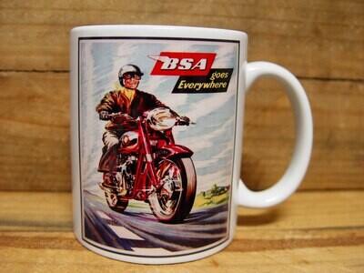 300ml COFFEE MUG, BSA MOTORCYCLES -GOES EVERYWHERE
