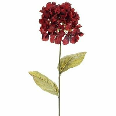 "26"" Red Hydrangea Spray"