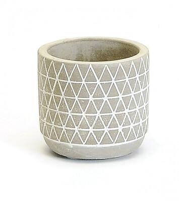 Triangles Concrete Pot