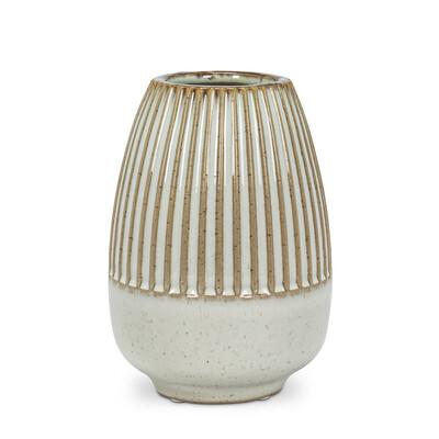 Sm. Half Ribbed Vase