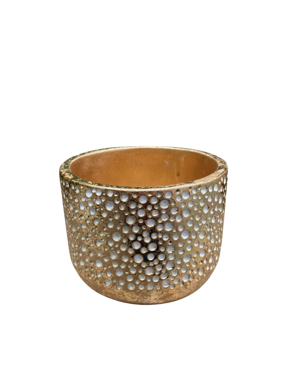 Gold Concrete Pot