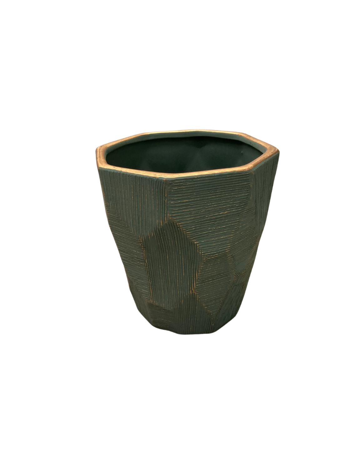 Green with Gold Pot