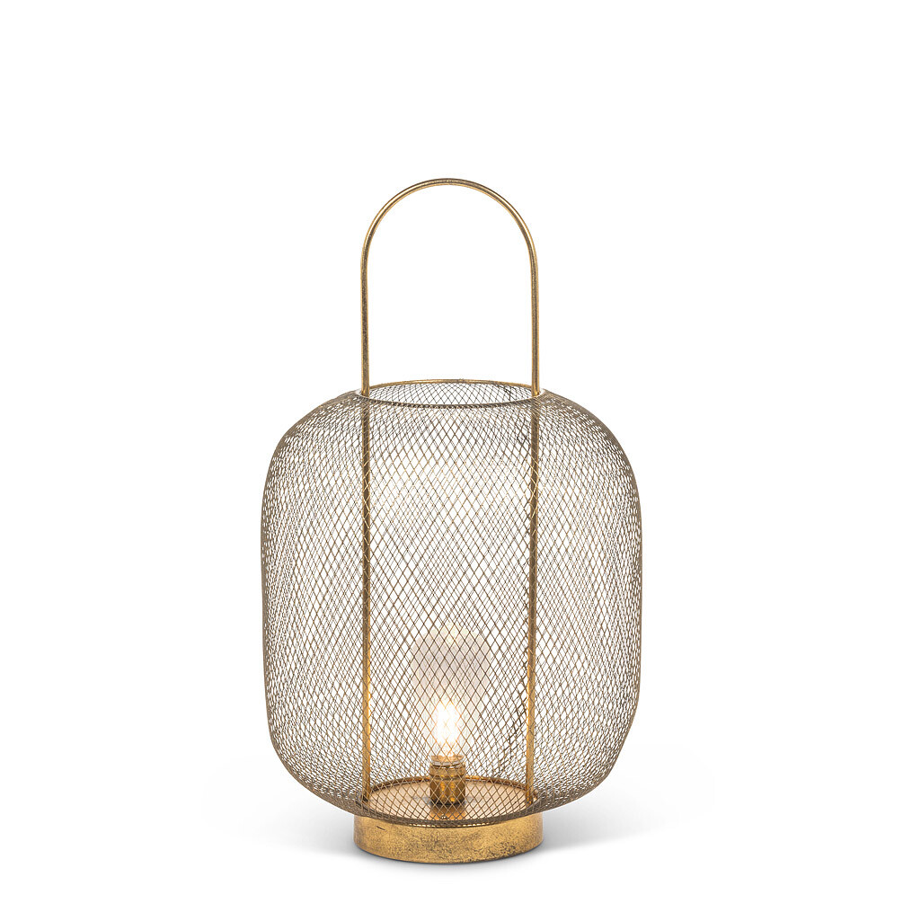 Wide Mesh Barrel Lantern - 21""