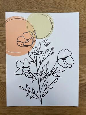 Floral Suns Print