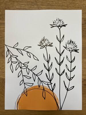 Flowers and Sun Print