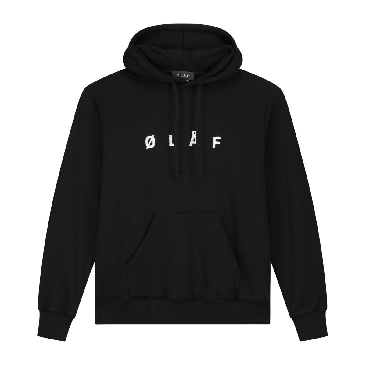 Olaf | Hoody | Chainstitch Hoody zwart