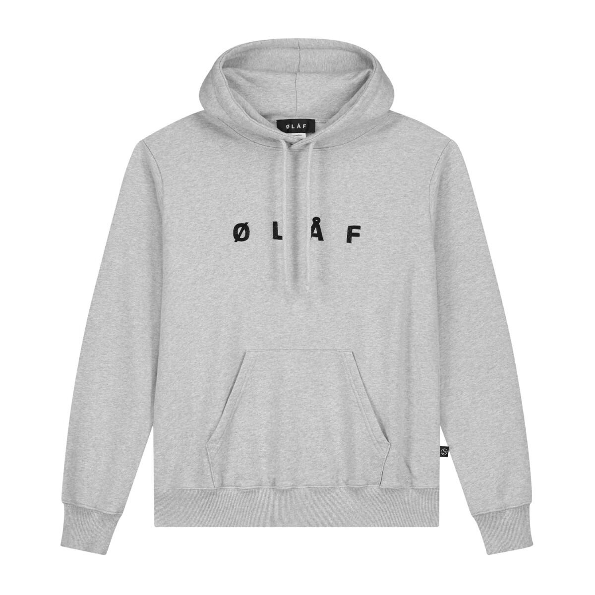 Olaf | Hoody | Chainstitch Hoody grijs