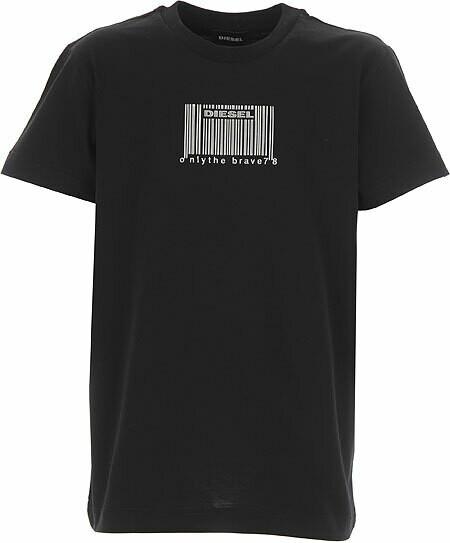 Diesel | Kids T-Shirt | J00115 00YI9 zwart