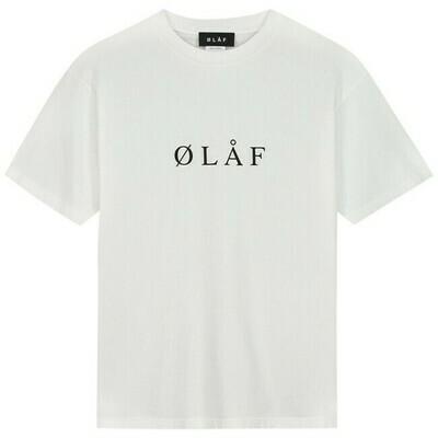 OLAF| T-Shirt | Serif Tee wit