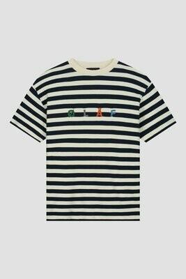 OLAF | T-shirt | Stripe Sans Tee blauw