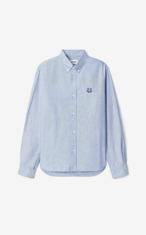 Kenzo | Shirt | FB55CH4001LD l.blauw
