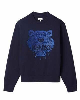 Kenzo   sweater   FB55SW1174XF d.blauw