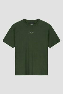 OLAF | T-shirt | Block Tee d.groen