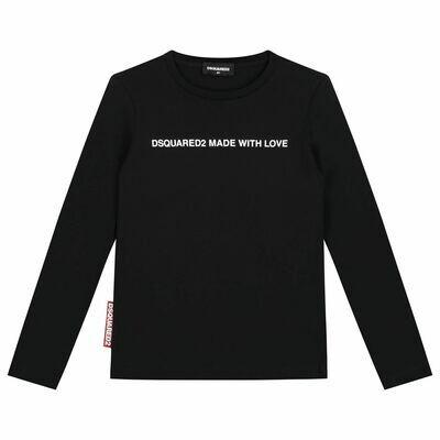 Dsquared2 Kids | T-shirt lange mouw | DQ04BV D00MV D2T567F zwart