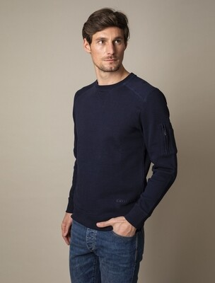 Cavallaro | Sweater | 120211005 d.blauw