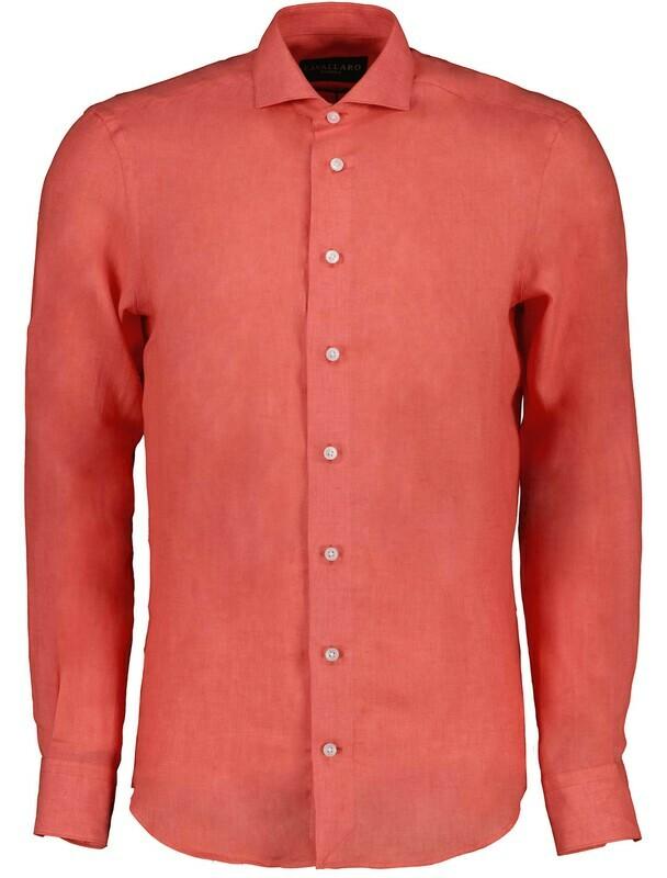 Cavallaro | Shirt Linnen | 110211057 coraal