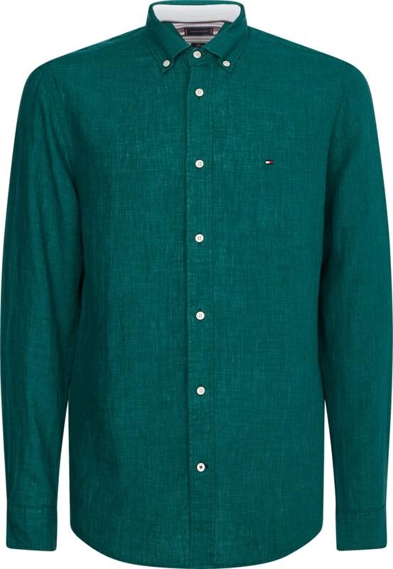 Tommy Hilfiger | Shirt Linnen | MW0MW17646 groen
