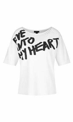 Marccain | T-shirt | QS 41.24 M20 wit