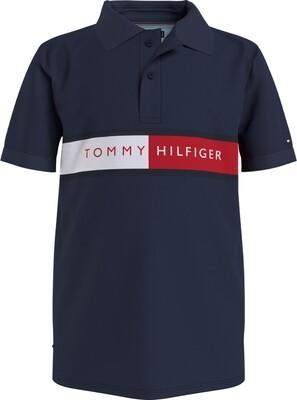 Tommy Hilfiger Kids | Polo | KB0KB06535 d.blauw