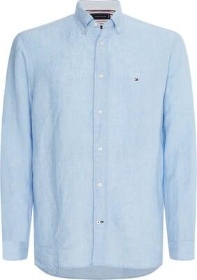 Tommy Hilfiger | Shirt Linnen | MW0MW17646 l.blauw