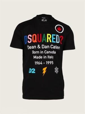Dsquared2   T-shirt   S74GD0855 S23009 zwart