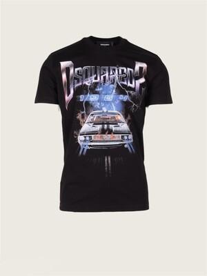 Dsquared2   T-shirt   S71GD1071S23009 zwart