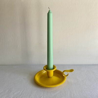Yellow Enamelware Candle Holder