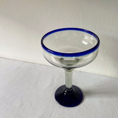 Set Of Two Recycled Mexican Margarita Glasses By Tumia