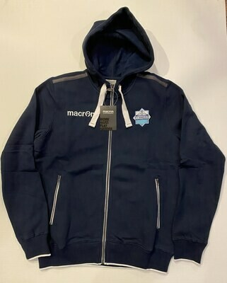 Full-Zip Hoodie Sweater  - Navy