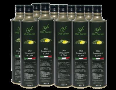 Olio Extravergine di Oliva 7,5 litri (10 bottiglie da 750ml)