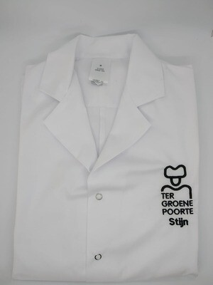 Stofjas met logo TGP en voornaam van de leerling