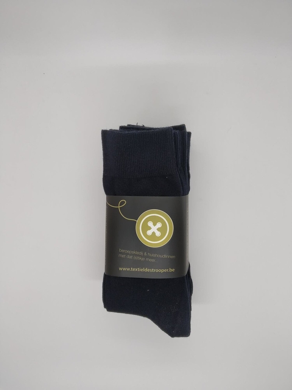 Set sokken marine van 6 paar + 2 paar gratis