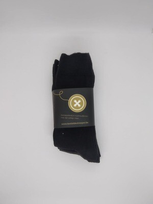 Set sokken zwart van 4 paar + 1 paar gratis