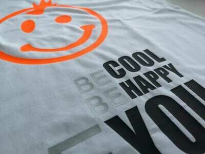 04 - 1. BE COOL BE HAPPY BE YOU - POSITIVE STATEMENT Shirt, verschiedene Motive