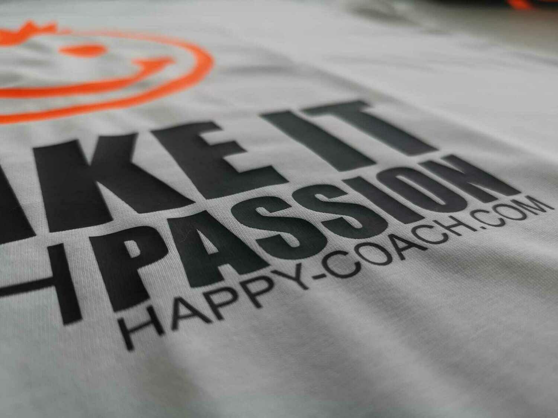 04 - 2. MAKE IT WITH HAPPINESS  - POSITIVE STATEMENT Shirt, verschiedene Motive