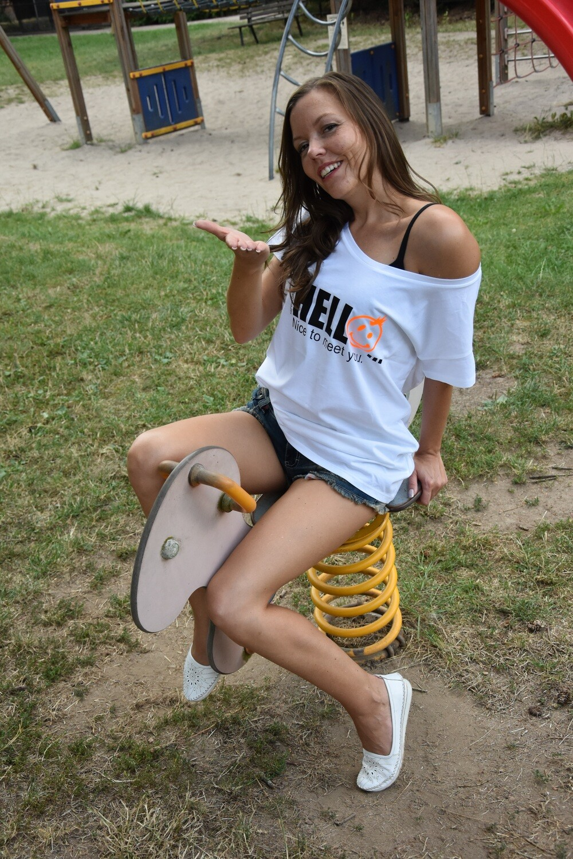 04 - 6. HELLO NICE TO MEET YOU - Das POSITIVE STATEMENT Shirt,  verschiedene Motive