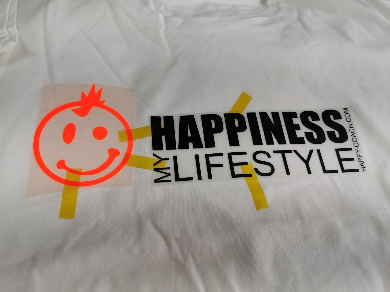 04 - 5. HAPPINESS MY LIFESTYLE - POSITIVE STATEMENT Shirt, verschiedene Motive