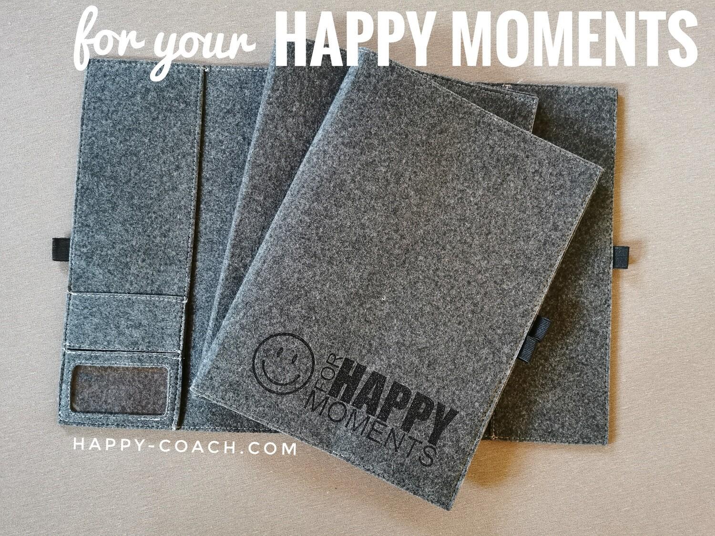 "20. SCHREIBMAPPE - FLEECE BAG for "" HAPPY MOMENTS"""