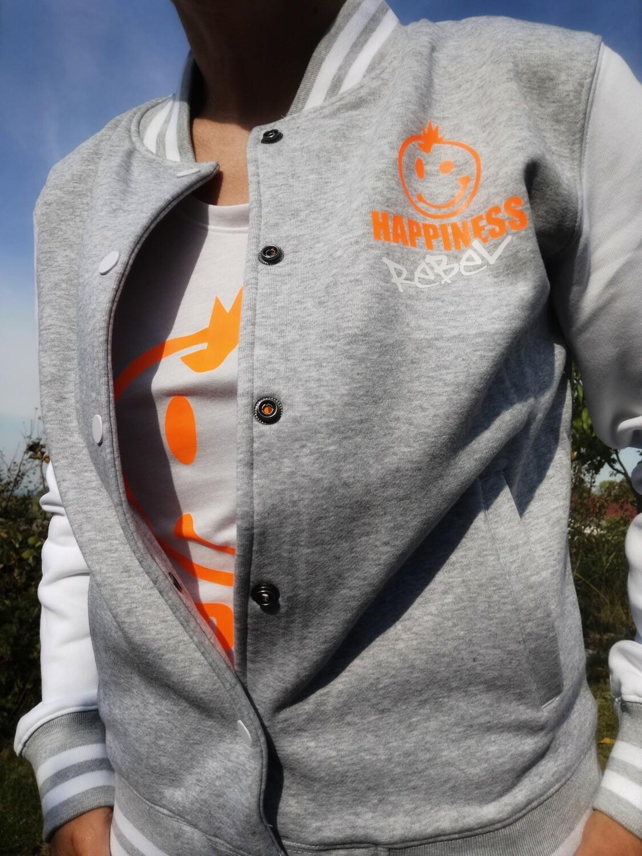 27. HAPPINESS REBEL - Ladies`Sweat College Jacket