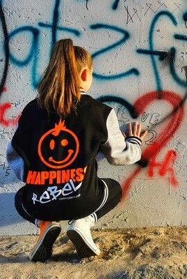 31. HAPPINESS REBEL - KIDS Sweat College Jacket