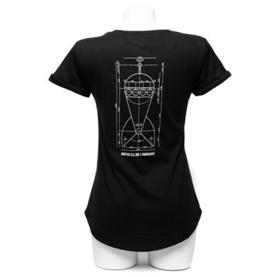Damen Raketenshirt Rundhals