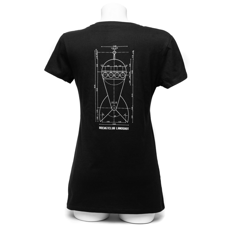 Damen Raketenshirt V-Ausschnitt