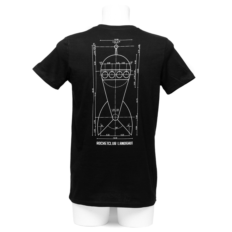 Herren Raketenshirt V-Ausschnitt