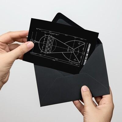Soli-Postkarte Raketenkonstruktion
