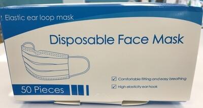 3 Ply Disposable Face Masks 50 masks